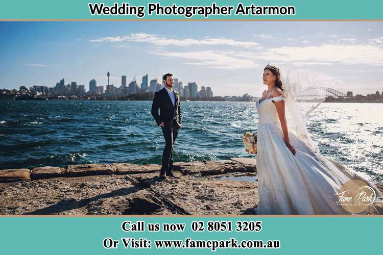 Photo of the Groom and the Bride at the sea front Artarmon NSW 2064