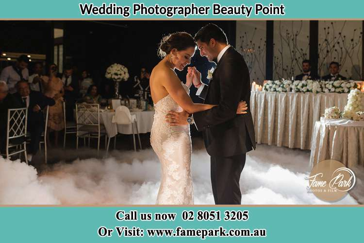 Photo of the Bride and the Groom dancing Beauty Point NSW 2088