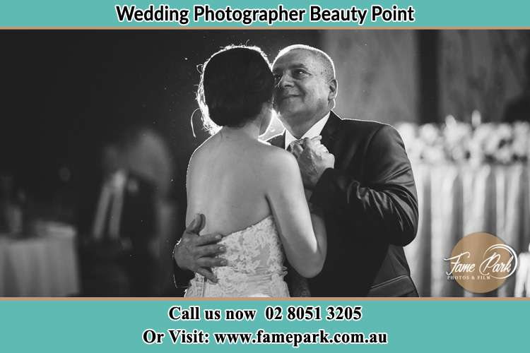 Photo of the Bride dancing with he father Beauty Point NSW 2088