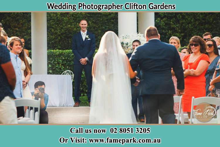 Photo of the Bride with her father walking the aisle Clifton Gardens NSW 2088