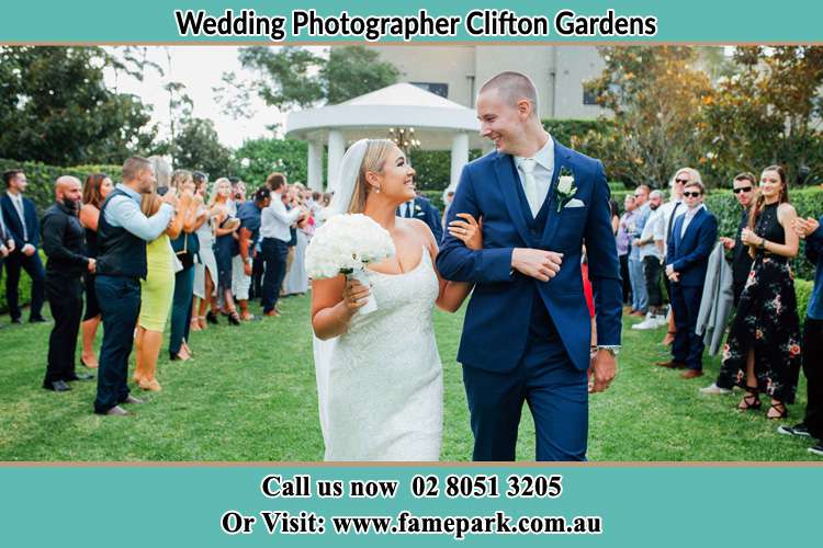 Photo of the Groom and the Bride looking each other Clifton Gardens NSW 2088