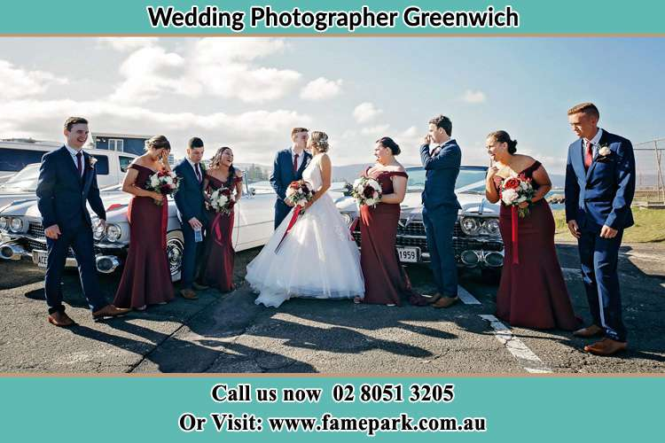 Photo of the Groom and the Bride with the entourage Greenwich NSW 2065