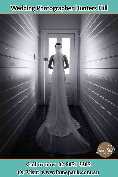 Photo of the Bride going out the door Hunters Hill NSW 2110