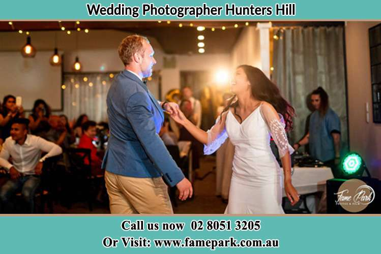 Photo of the Groom and the Bride dance floor Hunters Hill NSW 2110