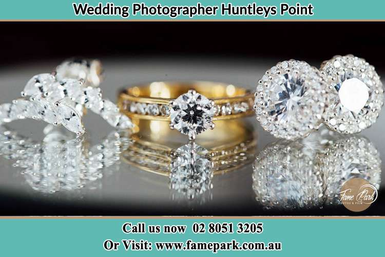 Photo of the Bride's cliff, ring and earrings Huntleys Point NSW 2111