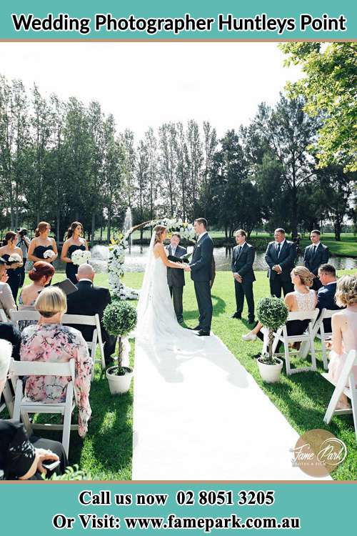 Garden wedding ceremony photo Huntleys Point NSW 2111