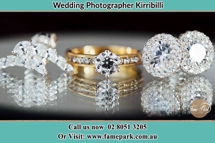 Photo of the Bride's cliff, ring and earrings Kirribilli NSW 2061