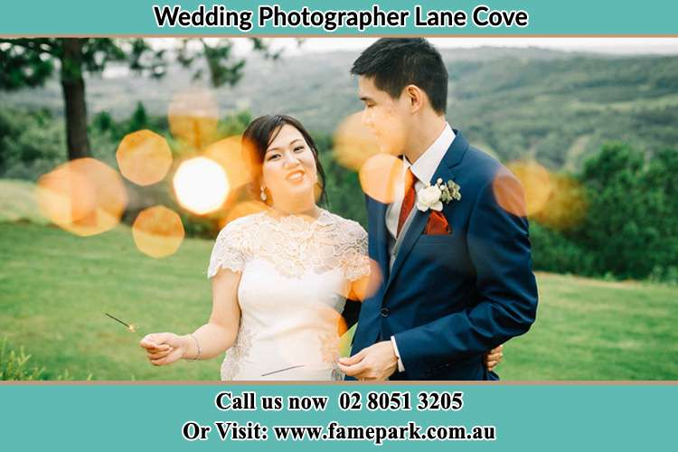 Photo of the Bride and the Groom at the yard Lane Cove NSW 2066