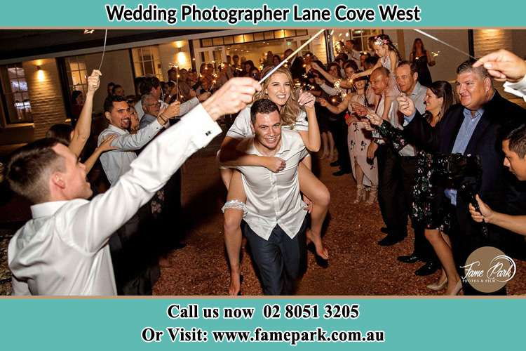 Photo of the Bride horse back ridding to the Groom Lane Cove West NSW 2066