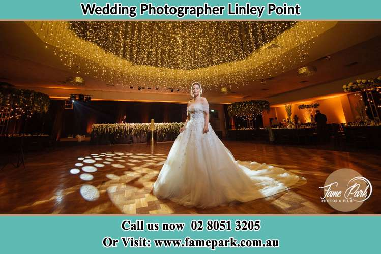 Photo of the Bride on the dance floor Linley Point NSW 2066