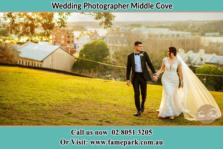 Photo of the Groom and the Bride at the yard Milsons Point NSW 2061