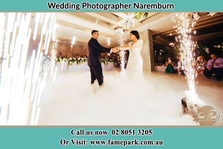 Photo of the Groom and the Bride dancing on the dance floor Naremburn NSW 2065