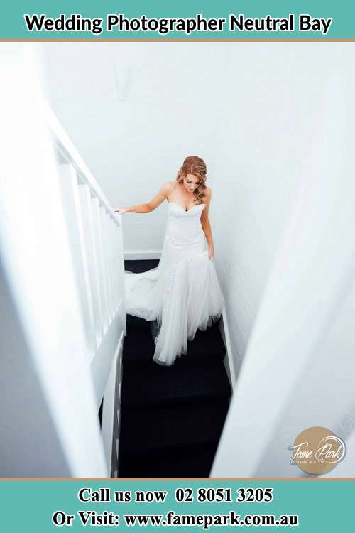 Photo of the Bride going down the stair Neutral Bay NSW 2089