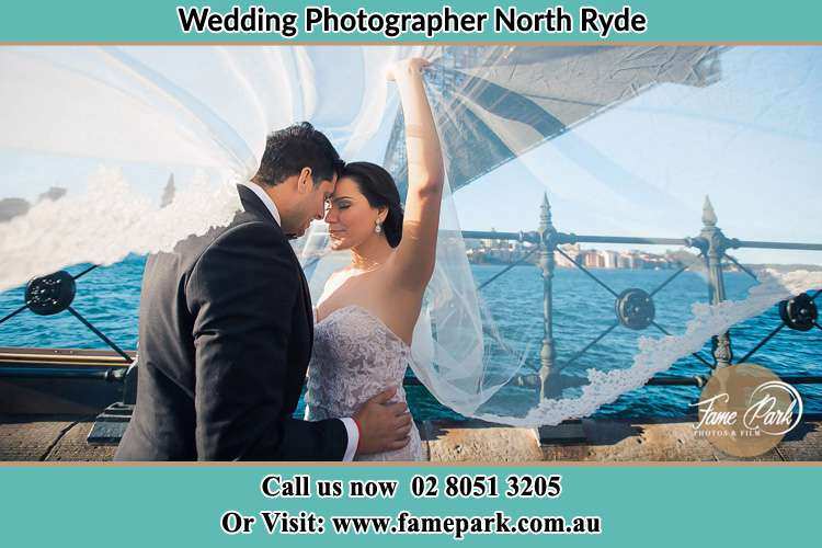 Photo of the Groom and the Bride kissing North Ryde NSW 2113