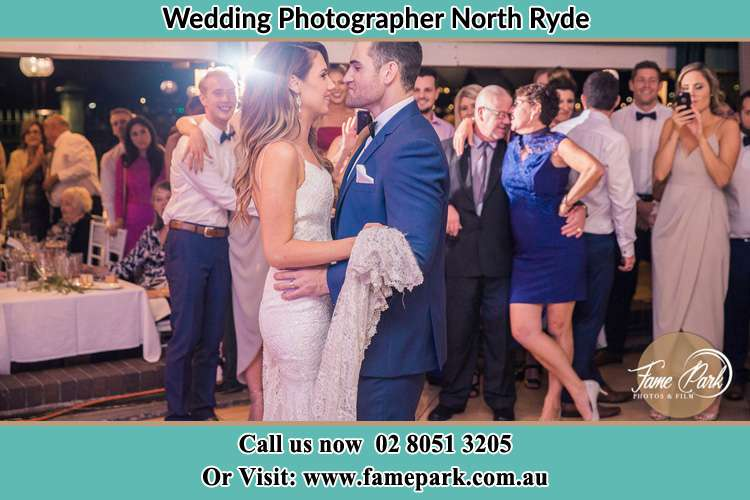 Photo of the Bride and the Groom dancing North Ryde NSW 2113