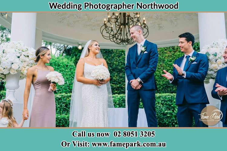Photo of the Groom and the Bride with the entourage Northwood NSW 2066