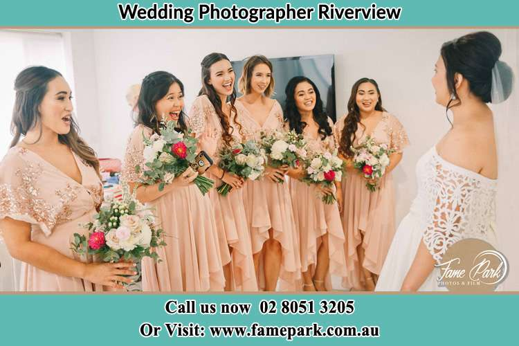 Photo of the Bride and the bridesmaids Riverview NSW 2066