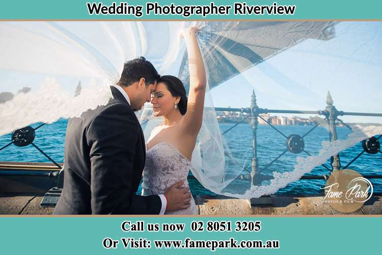 Photo of the Groom and the Bride kissing Riverview NSW 2066