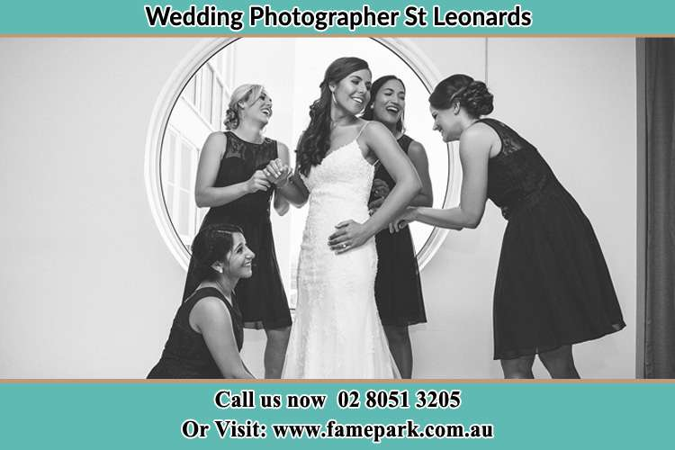 Photo of the Bride and the bridesmaids near the window St Leonards NSW 2065