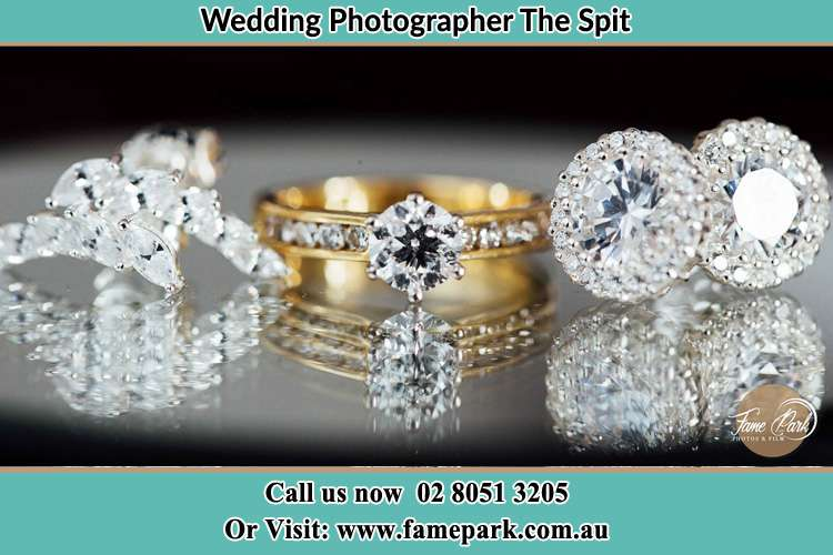 Photo of the Bride's cliff, ring and earrings The Spit NSW 2088