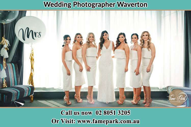 Photo of the Bride and the bridesmaids Waverton NSW 2060