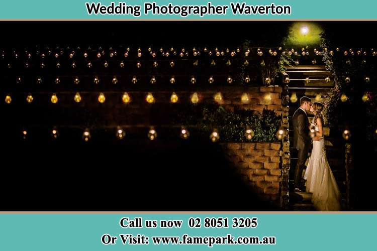 Photo of the Groom and the Bride kissing Waverton NSW 2060