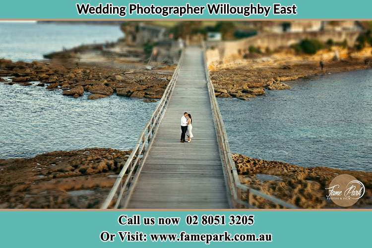 Photo of the Groom and the Bride at the bridge Willoughby East NSW 2068